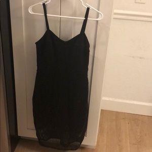 Express black mesh cocktail dress